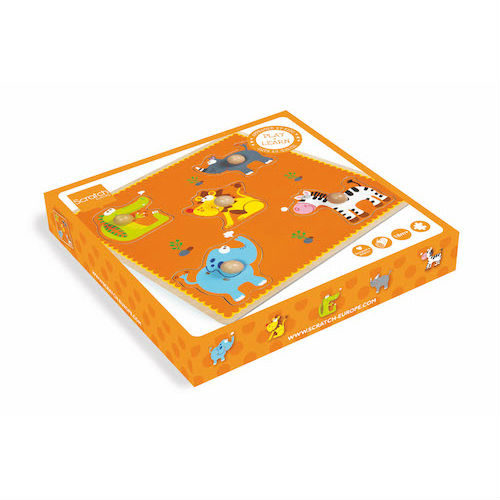 Puzzle de lemn Scratch, model animale sălbatice
